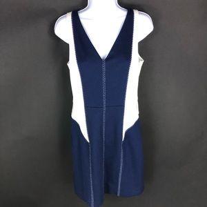 Cynthia Steffe Women's Blue White Dress 6